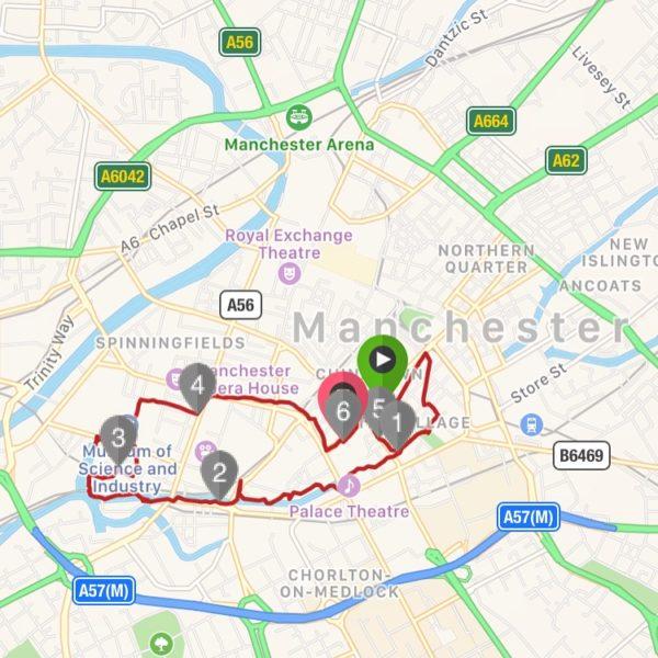 Karta Manchester löpning