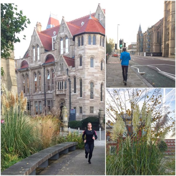 Löpning genom University of Manchester
